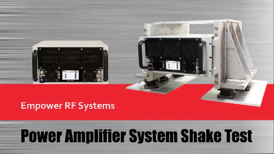 Watch Empower RF's SSPA System Shake Test